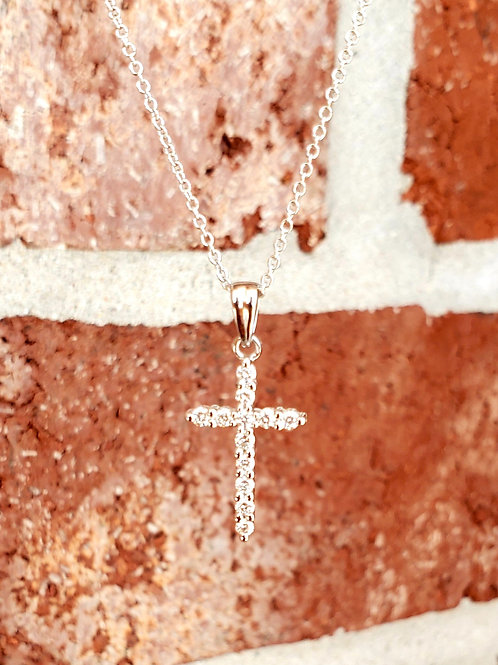 0.20ctw Diamond Cross Necklace