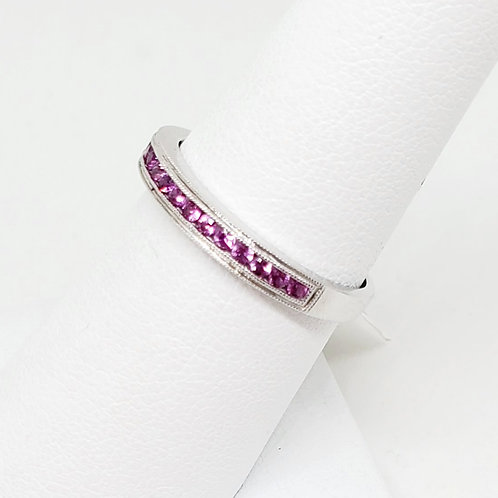 Pink Sapphire Stackable