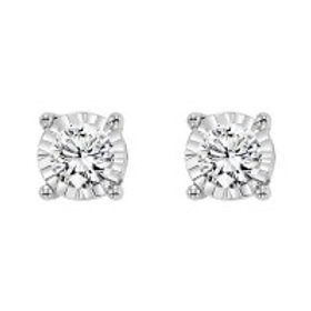 0.14ctw Diamond Stud Earrings