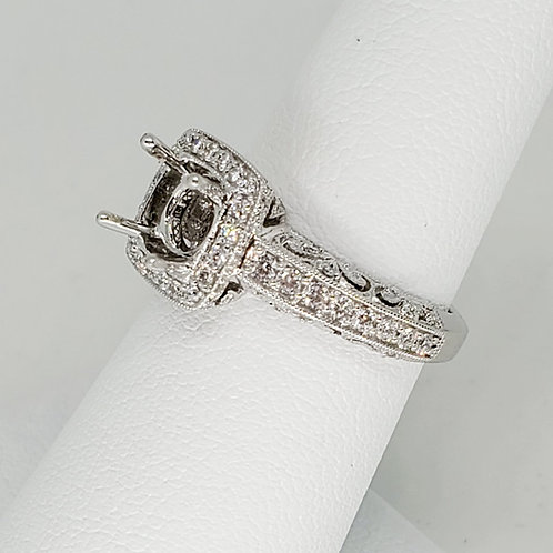 Engraved Semi-Mount Engagement Ring