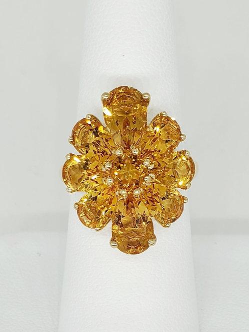 Floral Citrine Ring