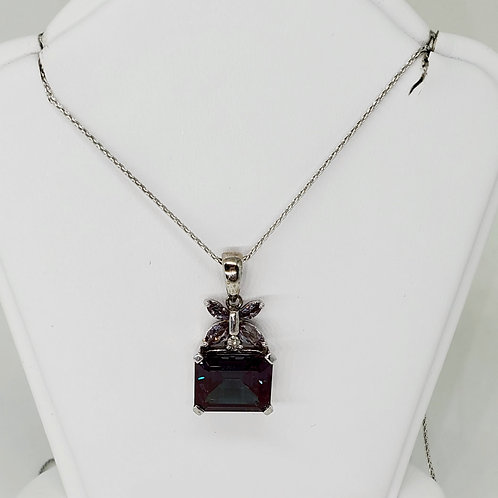 Alexandrite Butterfly Necklace