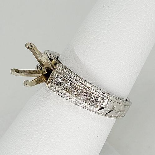 Princess Semi-Mount Engagement Ring