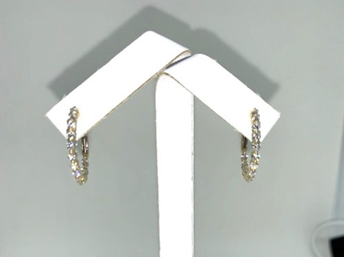 Diamond Inside/Out Hoop Earrings