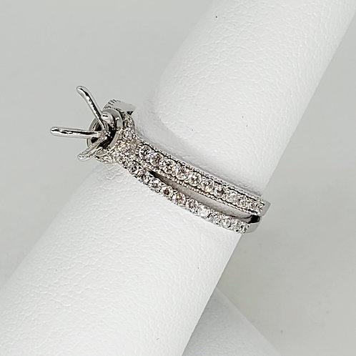 Split Shank Semi-Mount Engagement Ring