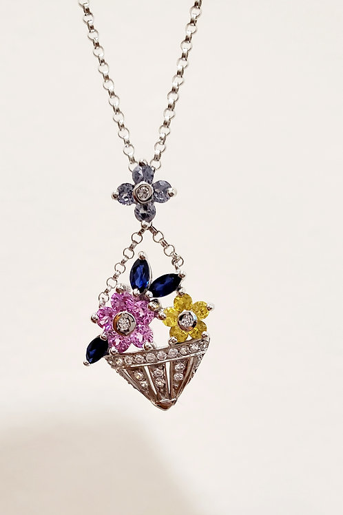 Basket of Flowers Necklace