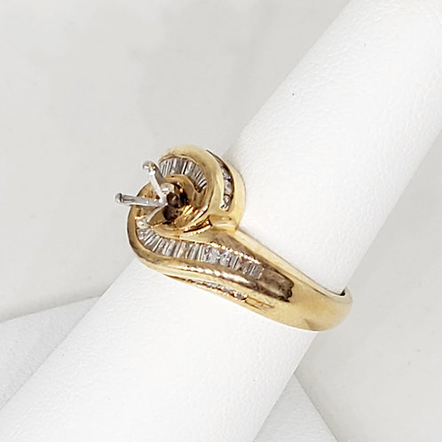Bypass Semi-Mount Engagement Ring