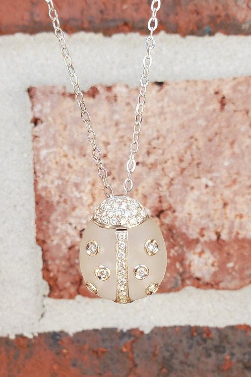 Ladybug Diamond Necklace