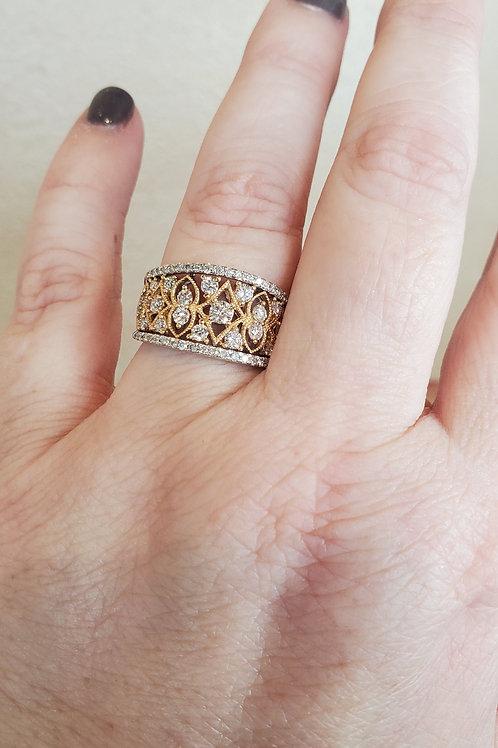 Dome Diamond Ring
