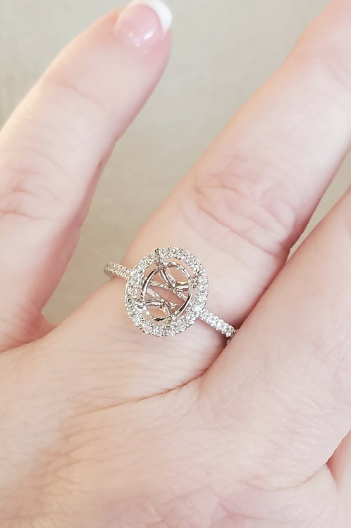0.24ctw Oval Engagement Ring