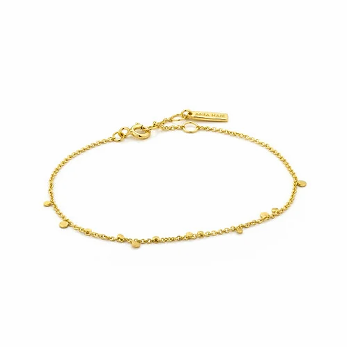 Gold Geometry Mixed Disc Bracelet