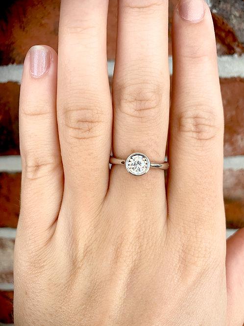 Solitaire Diamond Illusion Ring