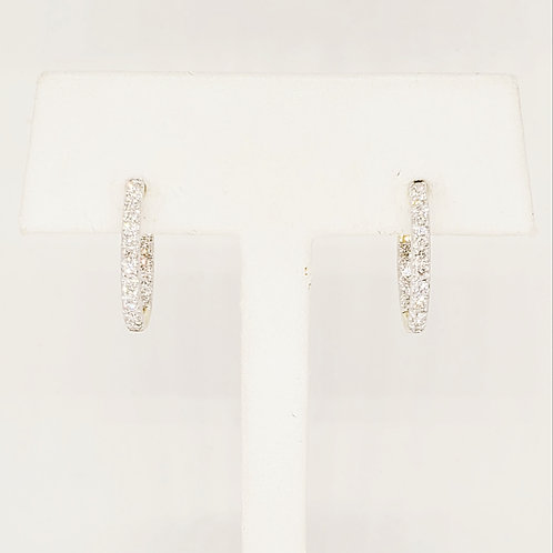 Diamond Inside/Out Hoop Earrings