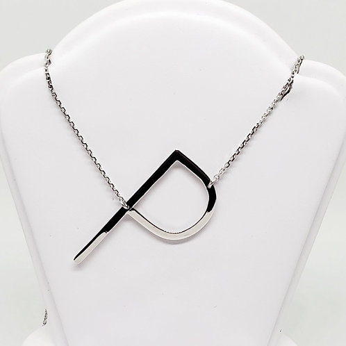 """P"" Initial Necklace"