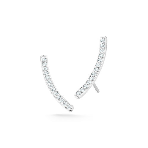 Diamond Curve Earrings