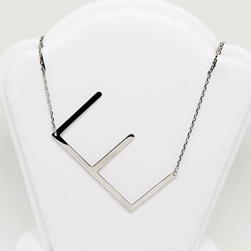 """E"" Initial Necklace"