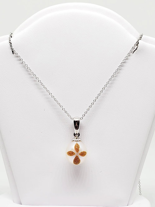 Bible Pearl and Diamond Necklace