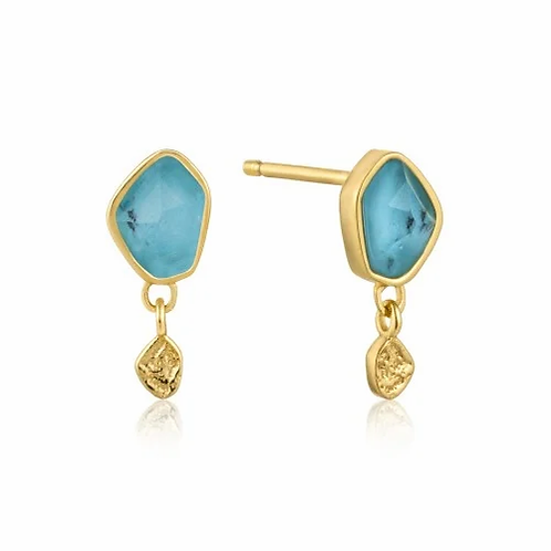 Mineral Glow Turquoise Earrings