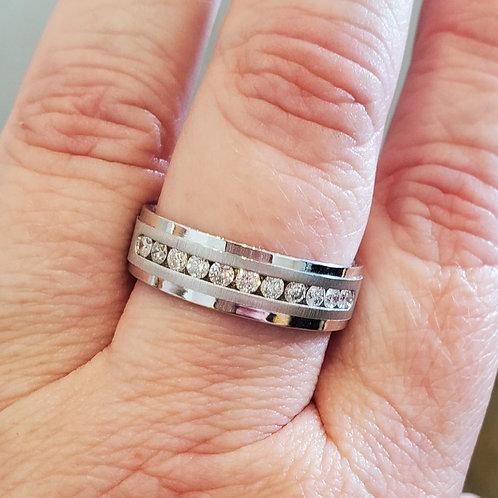 0.58ctw Men's Diamond Wedding Band