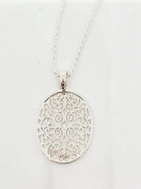 Oval Scroll Necklace