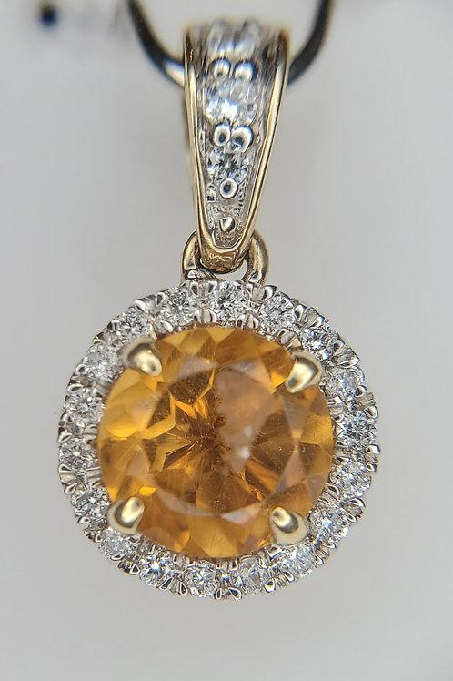 Cirtine and Diamond Pendant
