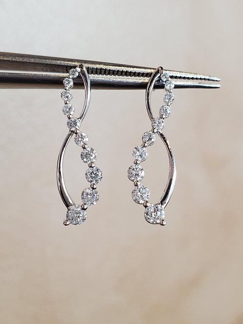 Twist Diamond Earrings