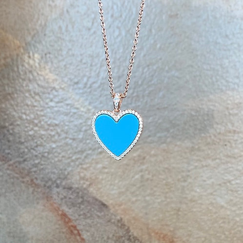 Blue Topaz Heart