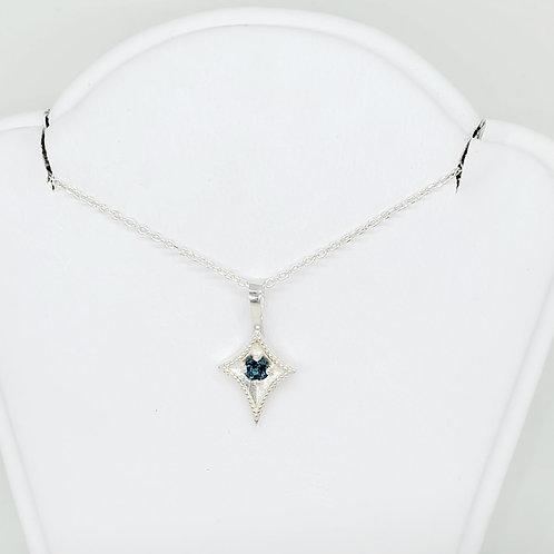 Blue Topaz Kite Necklace