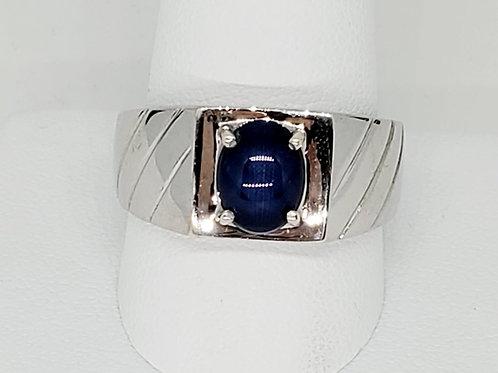 Men's Blue Star Sapphire Ring