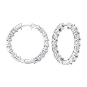 0.50ctw Inside/Out Hoops