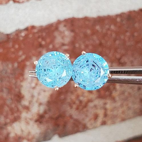Spiderweb Blue Topaz Studs