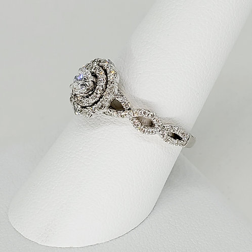 Double Halo Infinity Engagement Ring