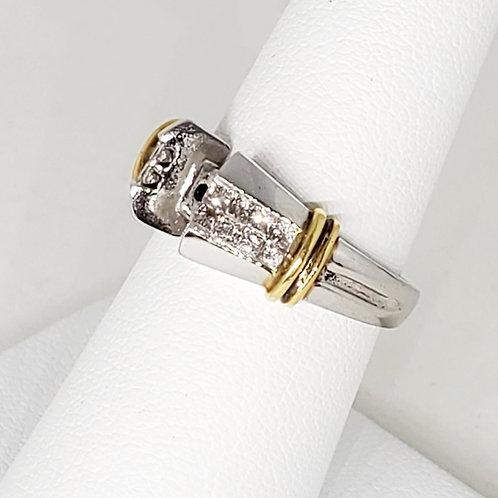 Princess Semi-Mount Shank Engagement Ring