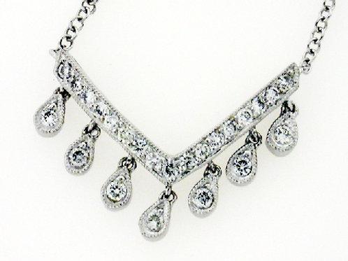 Chevron Diamond Necklace