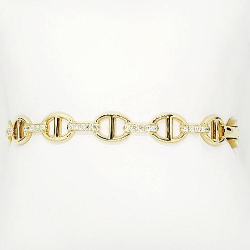 Diamond Bangle Cuff Bracelet
