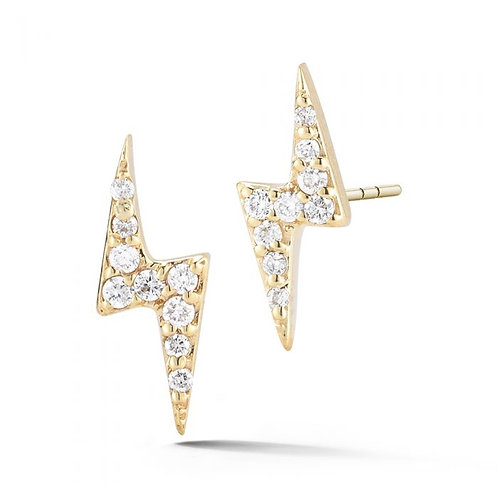 Diamond Bolt Earrings