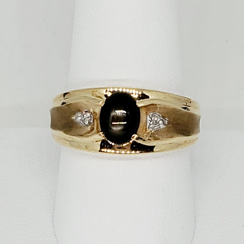 Men's Quartz and Diamond Ring