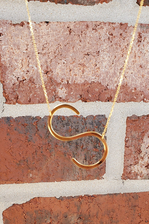 S Sideway Initial Necklace