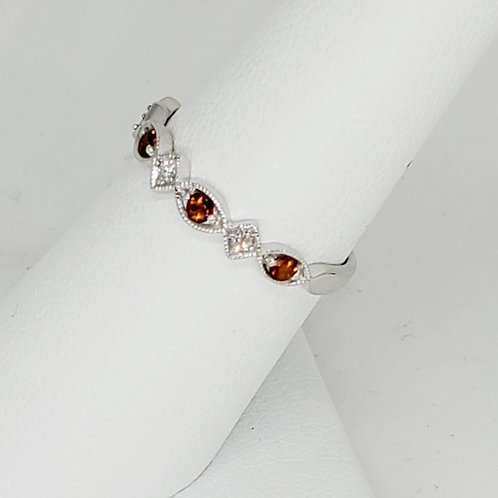 Garnet and Diamond Stackable