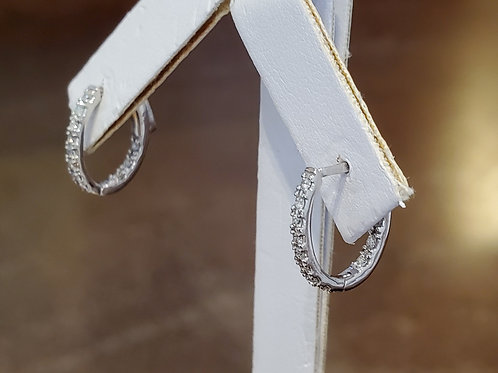 0.25tw Diamond Inside/Out Hoops