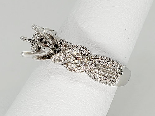 Twisted Semi-Mount Engagement Ring