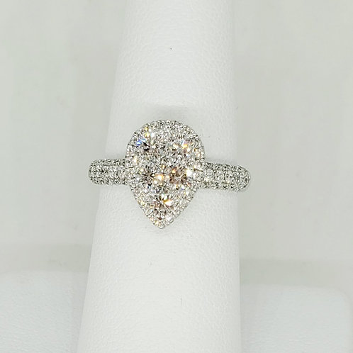 1.26ctw Pear Cluster Ring