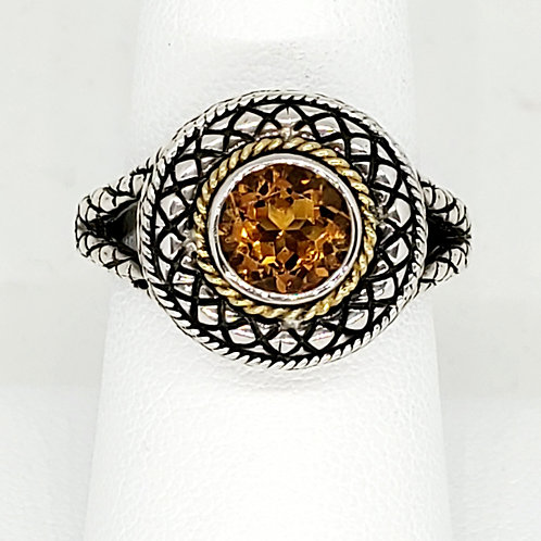 Sterling Silver and Citrine