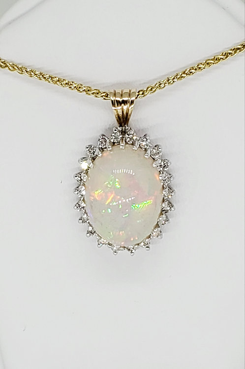 Opal and Diamond Necklace