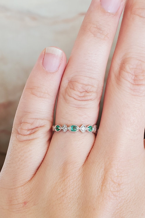 Emerald and Diamond Stackable
