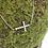 Thumbnail: 0.15ctw Sideways Diamond Cross Necklace