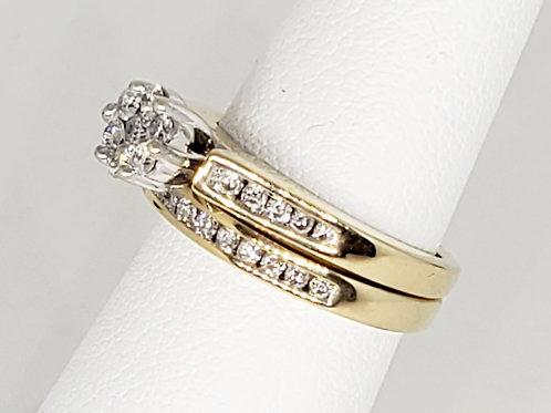 Cluster Diamond Wedding Set