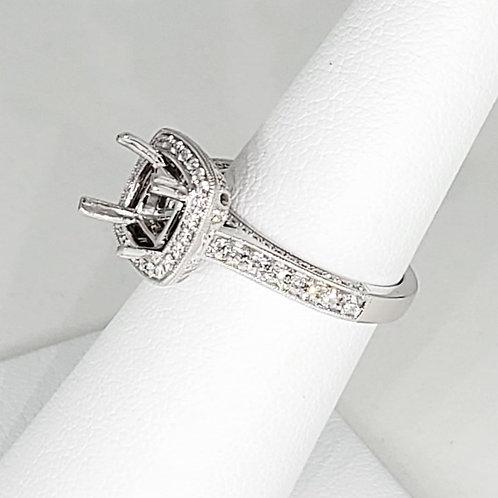 Cushion Semi-Mount Engagement Ring