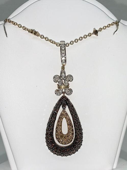 Diamond Fleur de lis Necklace
