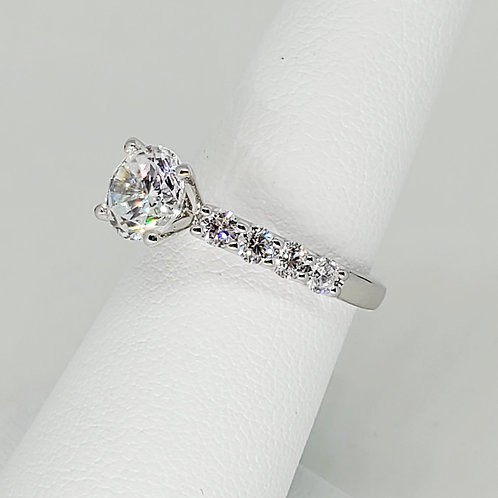 Accented Semi-Mount Engagement Ring